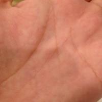 手の平キラキラ