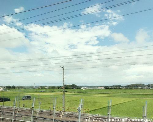 新幹線から見えた景色