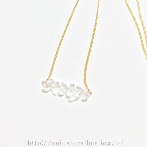 パワーストーン水晶ネックレス